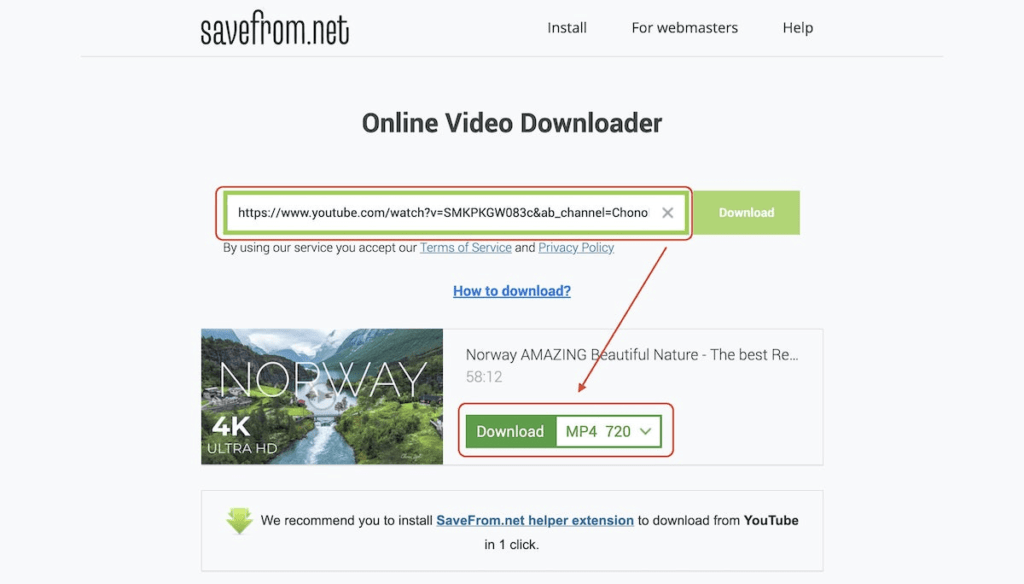 Savefrom.net - Download YouTube Videos Without Software