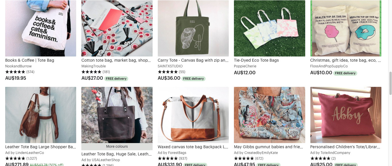 Tote bags- crafts that make money.