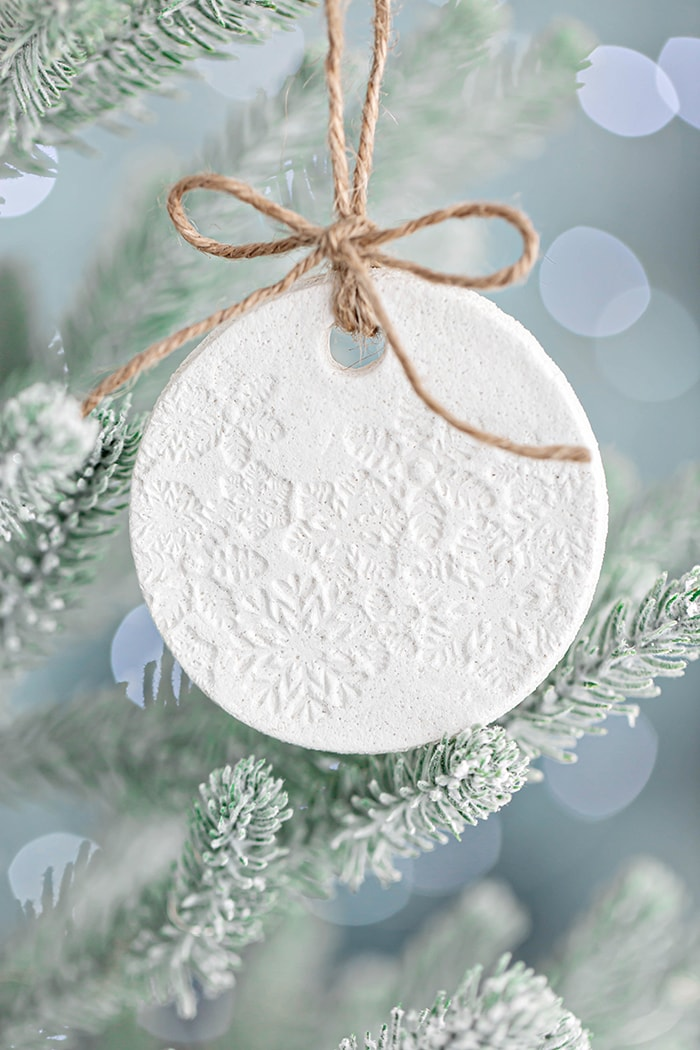 crafts to sell for moms-Salt-Dough-Ornament-with-Snowflakes-Salt-Dough-Ornament