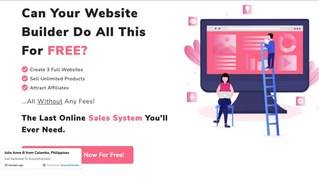 landing page feature