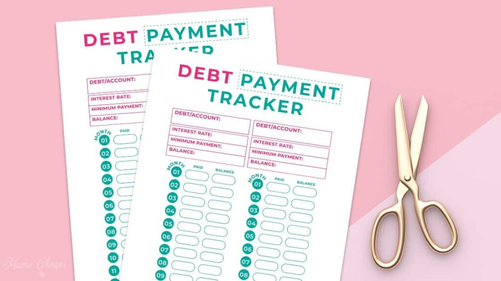 Free Printable Debt Payment Tracker